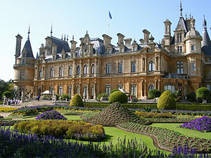 The terrace and parterre, Waddesdon Manor