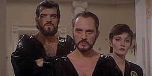 General Zod (Terence Stamp, center), Ursa (Sar...