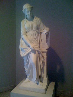 Muse, American marble statue by unknown artist...