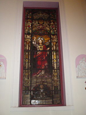 Stained glass window 1: Jesus Christ
