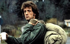 John Rambo in 1982, after returning to civilia...