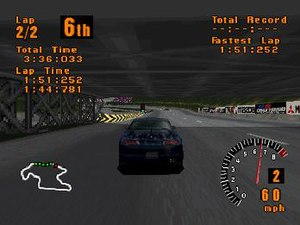 Screenshot of gameplay using a Mitsubishi FTO ...