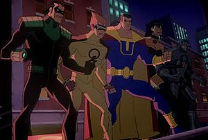The Crime Syndicate from Crisis on Two Earths.