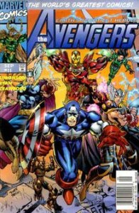 The Avengers  comic book    Wikipedia The Avengers vol  2   11  Sept  1997   showing the Heroes Reborn Avengers   Cover art by Michael Ryan and Sal Regla