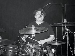 Mathew Priest performing with Dodgy in Manches...
