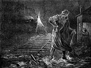 Death on the Rail, a fanciful washout derailme...