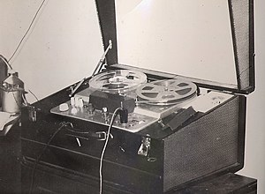 A typical home reel to reel tape recorder, thi...