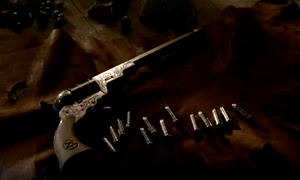 The Colt with thirteen original bullets