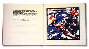 An inner spread from Klänge, Wassily Kandinsky...