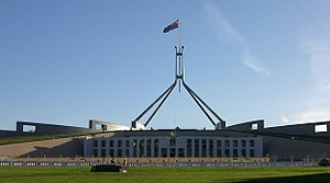 Parliament House, Canberra: the seat of the Pa...