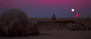 The scene from Ep IV: A New Hope showing the d...