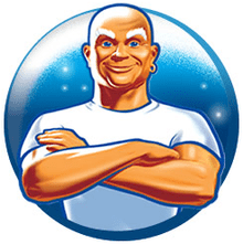 Image of Mr. Clean, a famous detergent a few decades ago