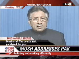 President Musharraf addresses Pakistan for the...