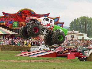 The Red Dragon Monster Truck at The Hop Farm