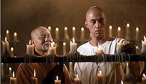 Master Po (left) and Kwai Chang Caine (right) ...