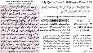 Interpretation of Quran Verse by Sahih Bukhari...