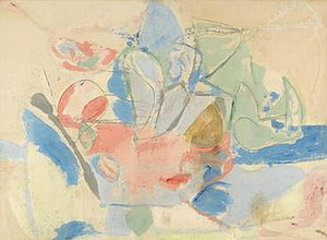 Helen Frankenthaler, 1952, Color Field paintin...