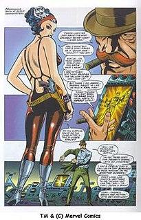 Steranko's Bond girl-like Contessa Valentina Allegra di Fontaine, from same issue as above left.