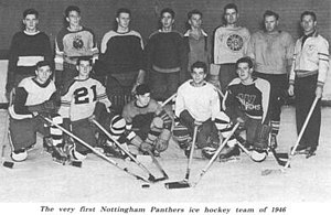 The first Nottingham Panthers team