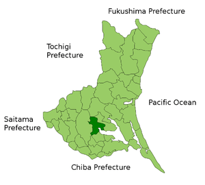 Location of Tsuchiura in Ibaraki