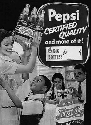 1940s advertisement for Pepsi, one of the very...