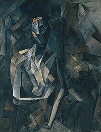 abacbfd88 بابلو بيكاسو، ١٩٠٩-١٠ ، Figure dans un Fauteuil (Seated Nude، Femme nue  assise)، زيت على قماش ، 92.1 × 73 سم ، تيت مودرنلندن