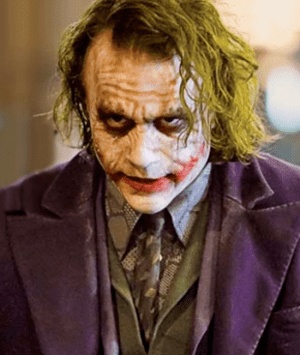 The Joker in The Dark Knight is portrayed by H...
