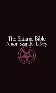 Cover of the book showing title and author in white text above a purple Sigil of Baphomet