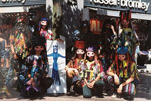 Mummers in Exeter, Devon, UK, 1994.