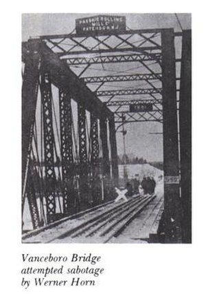 The bridge after the sabotage.