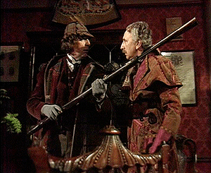 The Doctor (Tom Baker) and Professor Litefoot ...
