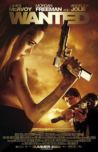 Movie poster with a woman on the left holding a large handgun as she faces right. Her left arm is covered in tattoos. A man on the right is facing forward and is holding two handguns, one hand held over the other. The top of the image includes the film's title, while the bottom shows an overhead view of a city's lights as well as the release date.