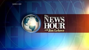 The final The NewsHour With Jim Lehrer logo fr...
