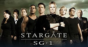 The main characters of Stargate SG-1 (from lef...