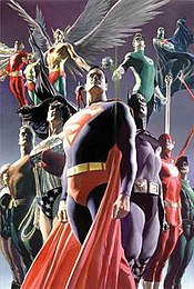 Ross's rendition of the Justice League