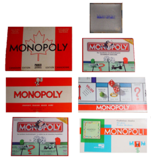 Monopoly games in editions from seven countrie...