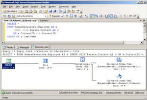 Microsoft SQL Server Management Studio display...