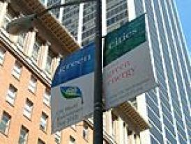 Standard World Environment Day banners hung in San Francisco in May 2005