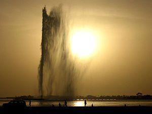 King Fahd's Fountain in Jeddah, Saudi Arabia.