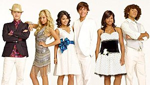 The main characters of the High School Musical...