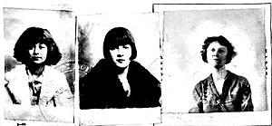 Passport Photo of Rose Hovick and daughters