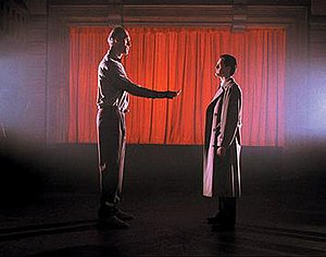 Agent Dale Cooper (Kyle MacLachlan) meets with...