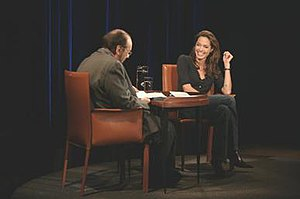 James Lipton with guest Angelina Jolie. The ma...