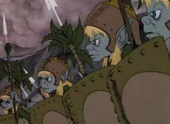 Elves as portrayed in the 1977 Rankin-Bass ver...
