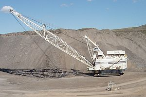 Dragline at the Curragh Coal Mine