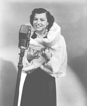 Rosa Ponselle at the NBC Radio microphone, 1936