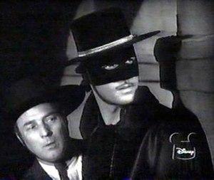 Zorro (Guy Williams) and Bernardo (Gene Sheldo...