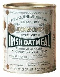 Tradtional 28-ounce tin of McCann's Steel Cut ...
