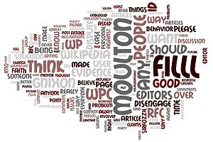 A word cloud of Wikipedia talk:Requests for co...