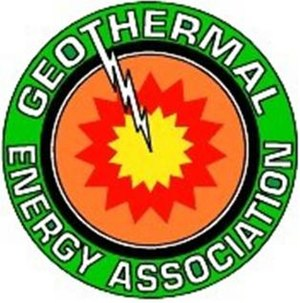 Logo of the Geothermal Energy Association.